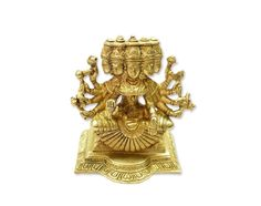 Gayatri statue in brass Hindu Religious God Sculpture Festival