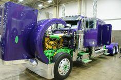 Crazy color scheme custom show truck