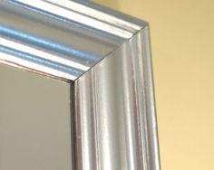 """DIY """"Silver Leaf"""" mirror using KRYLON Original Chrome"""