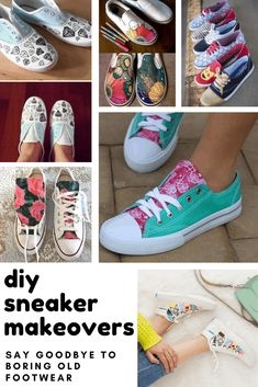 24 Crazy Cool Ways to Customize Your Own Sneakers this Weekend - Diy Poject Ideas School Projects, Diy Projects, Project Ideas, Craft Ideas, Design Your Own Sneakers, Diy Clothes, Refashioning Clothes, General Crafts, Crafts To Do