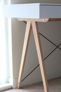 VINTAGE biurko RETRO design SKANDYNAWSKI drewno! MiChAeL-M19