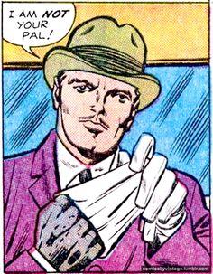 Vintage Comic, Pop Art. It looks like he has a glove under his glove.
