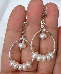 Quality-Fresh-Water-Pearl-Hoop-SS-Earrings-Leverbacks-A0318