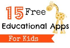 15 Great Free educational apps to help with math, reading, science, geography & more!