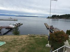 View of the harbour, Room 216, the John Wayne Room, at the Historic Lund Hotel, Lund, BC