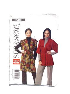 See & Sew B5409 Women's Cardigan and Belt Pattern by DonnaDesigned
