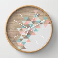 Wall Clocks featuring Archiwoo by Marta Li