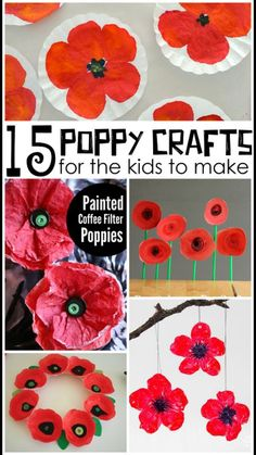 Beautiful Red Poppy Crafts for Kids to Make for Memorial Day - Crafty Morning Remembrance Day Activities, Veterans Day Activities, Remembrance Day Poppy, Craft Activities, Preschool Crafts, Fun Crafts, Arts And Crafts, Preschool Kindergarten, Poppy Craft For Kids
