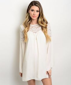 Cream Lace Boho Dresses-Online Trendy Fashion Womens Clothing Boutique – Aspira Clothing
