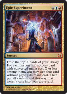Epic Experiment mtg Magic the Gathering Return to Ravnica blue red izzet mythic rare card
