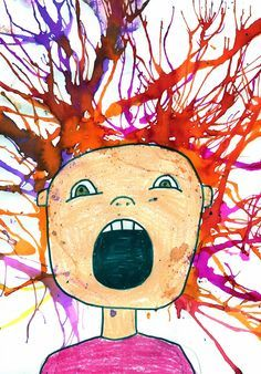 Art Projects for Kids: Scream Blow Painting bonuses as a fun #oralmotor activity More