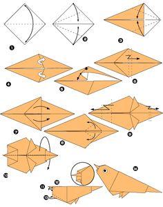 Moineau en origami                                                                                                                                                                                 Plus