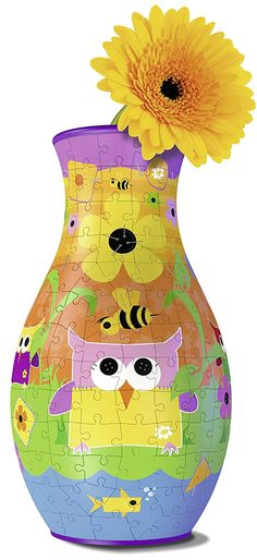 3D Puzzle - Blumenvase - Girly Girl: Eule - 216 Teile - RAVENSBURGER