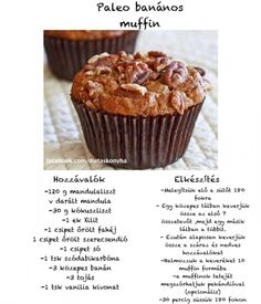 Paleo banános muffin Paleo Recipes, Paleo Food, Muffin, Tej, Breakfast, Cupcake, Morning Coffee, Cupcakes, Muffins
