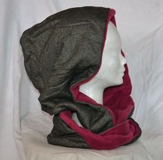 Reversible hooded infinity scarf.  Yes!