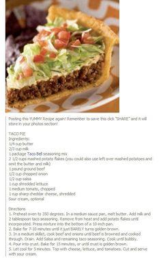 Taco in a pie!