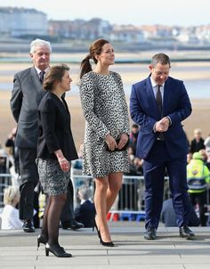 Pin for Later: It's a Girl! Celebrate the New Princess With Kate Middleton's Most Stylish Maternity Moments Kate Middleton Style The duchess definitely stood out in the crowd in this spotted Hobbs coat, which was the perfect balance between demure and adventurous.