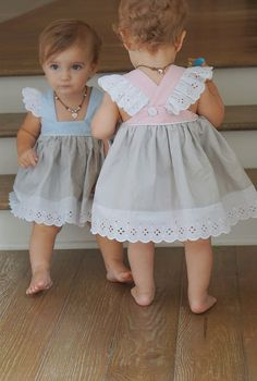 Good quality baby girls pinafore princess dress eyelet linen cotton baggy pretty dress for children - Baby Girl Dress - Ideas of Baby Girl Dress Sewing For Kids, Baby Sewing, Sewing Diy, Sewing Hacks, Sewing Ideas, Sewing Crafts, Sewing Patterns, Diy Crafts, Sewing Clothes