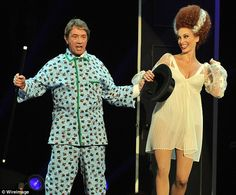 First, Young Frankenstein: Actor and comedian Martin Short performed a song and dance number Frankenstein Costume, Young Frankenstein, Bride Of Frankenstein, Elsa Lanchester, Martin Short, Dance Numbers, Classic Movie Stars, Mini Me, Matching Outfits