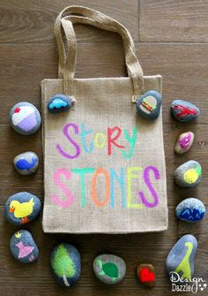 Fabelhafte Kinder basteln um die The post Kinder Craft Story Stones! Fabelhafte Kinder basteln um die appeared first on Kinder ideen. Kids Crafts, Summer Crafts, Projects For Kids, Diy For Kids, Cool Kids, Arts And Crafts For Kids For Summer, Summer Programs For Kids, Craft Kids, Beach Crafts