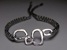 Gray satin bracelet with silvery finding by ByKarianne on Etsy, kr55.00