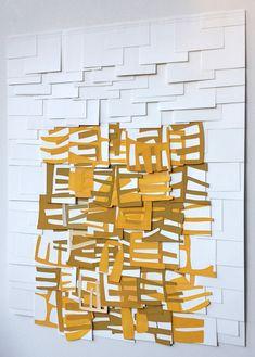 Raymond Saá  gouache, collage on sewn paper