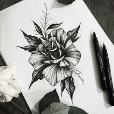 Tattoo design - New Tattoo Models Kunst Tattoos, Up Tattoos, Future Tattoos, Flower Tattoos, Black Tattoos, Body Art Tattoos, Tatoos, Tattoo Sketches, Tattoo Drawings