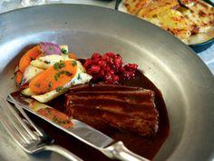 Rådjurssadel med potatisgratäng (kock Per Morberg)