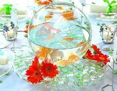 goldfish bowl wedding centerpieces - Google Search