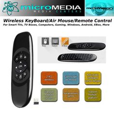 Wireless Keyboard Air Mouse for PC's, Smart TV's, Gaming, TV Box, Gyro control #MicroMediaAXS