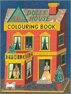 "Emily Sutton's ""Dolls' House Colouring Book"", from her ""Town & Country"" exhibition at the Yorkshire Sculpture Park"