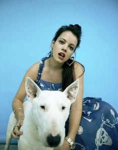 Lily Allen (and a lovely bull terrier)