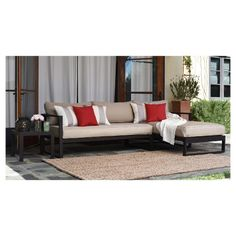 Inspired by simple design and minimalistic style, the Serta Catalina Outdoor Sectional features a bronze metal aluminum frame with clean lines and thick, durable cushions that are weather resistant. The result is a comfortable, practical outdoor entertaining sectional that stands the test of time. This sectional from Serta is perfect for any outdoor space and is ideal for entertaining large groups, as it provides cushioned seating for all your guests. Family barbecues, poolside lounging and…