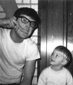 Baby Kurt❤ & Dad.