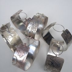 New wide silver cuff bracelets #vintagesilver #silversmithing #mixedmetals