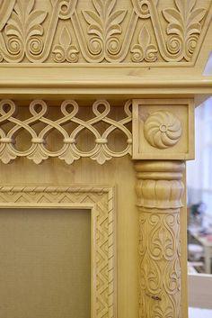 Акантус Ателье   Санкт-Петербург   Русский Север Pillar Design, 3d Interior Design, Wooden Architecture, Wood Carving Designs, Woodworking Furniture Plans, Decorative Mouldings, Moroccan Design, Gold Wood, Wood Trim
