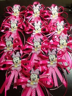 Baby Minnie Mouse Guets Corsages In Red... Great Idea For Future Grandmas,