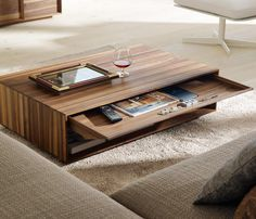 Here are 35 unique coffee table ideas that will make you swoon! Go through these unusual coffee tables & pick ones that suit your taste. Coffee Table Design, Wooden Coffe Table, Coffee Table Styling, Cool Coffee Tables, Coffee Table With Storage, Decorating Coffee Tables, Modern Coffee Tables, Unusual Coffee Tables, Occasional Tables