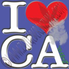 "Help make California greener. Up close ""I [heart] CA"" actually reads ""I love Cannabis"".  http://www.cafepress.com/thenaughtynook/10426823"
