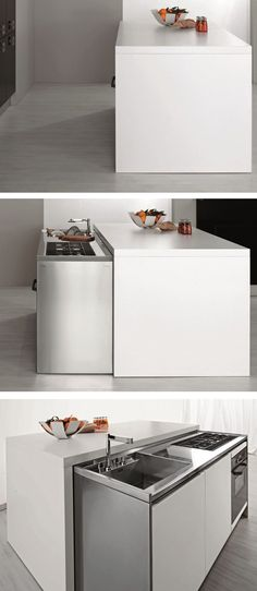 Contemporary style hideaway #kitchen MET by Aran Cucine @arancucineit
