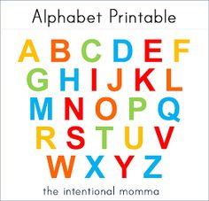 Free Alphabet Printable for Preschoolers and Toddlers