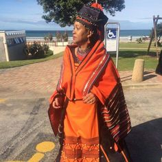 African Traditional Wear, African Traditional Wedding Dress, Traditional Outfits, Xhosa Attire, African Attire, African Dress, African Beauty, African Fashion, Shweshwe Dresses
