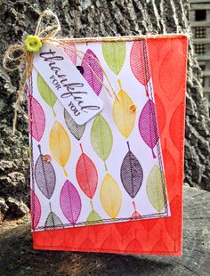 My Paper Epiphany: Winnie & Walter August Blog Hop - thankful for you card by Jenny Martin featuring A Tree for All Seasons.  #winniewalter