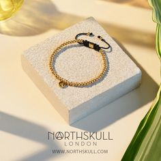 New for SS16 | Perfect for stacking & layering, our North Micro String Macramé Bracelet in Gold is a luxurious way to adorn the wrist in an understated yet stand out way | Available now at Northskull.com [Worldwide Shipping] #Luxury #Jewelry #MensFashion