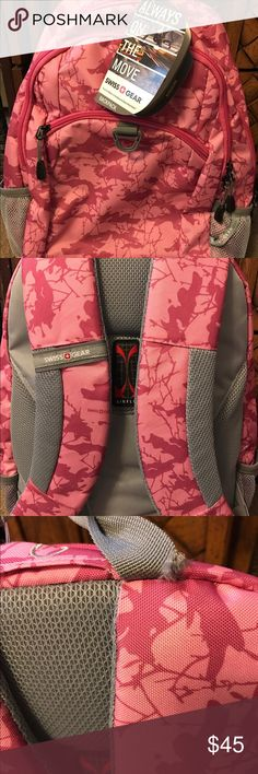 Swiss Gear Pink Como Backpack Brand New Never Used Got a little tear at the handle because was hanging to my cabinet but other than that its Perfect Condition Bags Backpacks