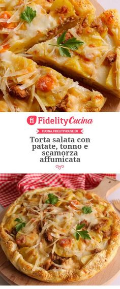 Torta salata con patate, tonno e scamorza affumicata No Salt Recipes, Sugar Free Recipes, Italian Entrees, Italian Recipes, Kitchen Recipes, Cooking Recipes, Quiches, Oven Cooking, Antipasto