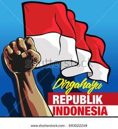 Vector illustration, Dirgahayu Republik Indonesia