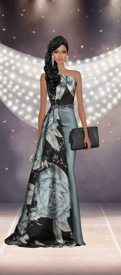 Award Show Dresses, Covet Fashion Games, Fashion Sketches, Closets, Style Icons, Afro, Awards, Footwear, Illustration