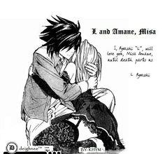 l and misa kissing Death Note Fanart, L Death Note, Yato X Hiyori, Veronica Lodge Fashion, Nate River, L Lawliet, Anime Ships, Death Metal, Anime Couples