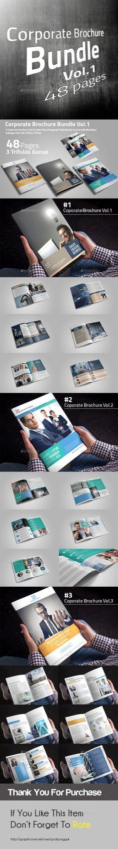 Corporate Brochure Bundle Templates InDesign INDD #design Download: http://graphicriver.net/item/corporate-brochure-bundle-vol1/13771941?ref=ksioks